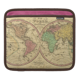 Map Of The World on the Globular Projection iPad Sleeves