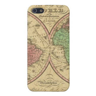 Map Of The World on the Globular Projection Case For iPhone 5