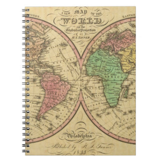 Map Of The World on the Globular Projection Notebook