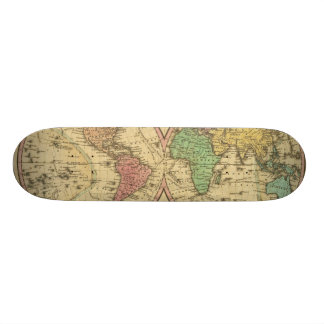 Map Of The World on the Globular Projection Skate Board