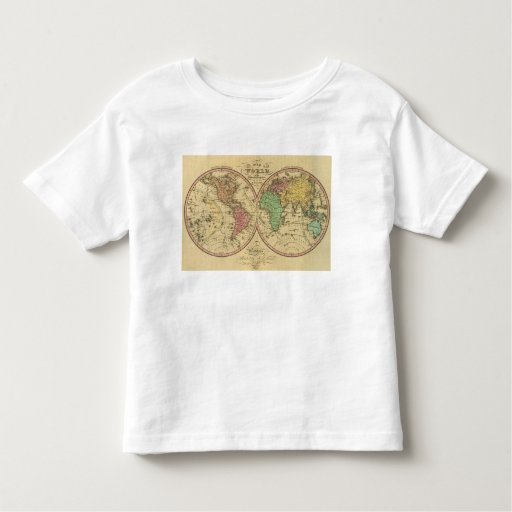 Map Of The World on the Globular Projection Toddler T-shirt