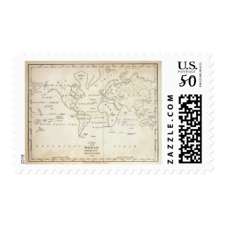 Map of the World Postage
