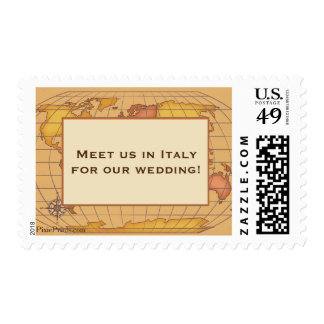 Map of the World Postage Stamp