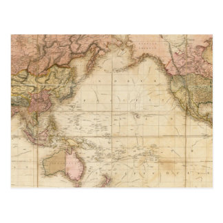 Map of the world postcard