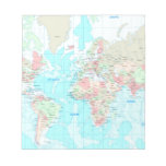 Map of the world scratch pads