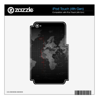 Map of the world skin for iPod touch 4G