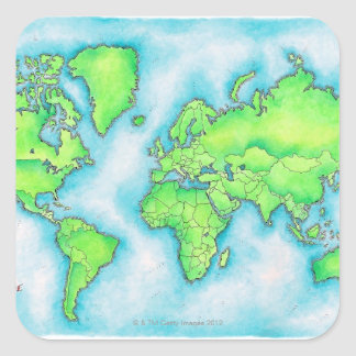 Map of the World Stickers