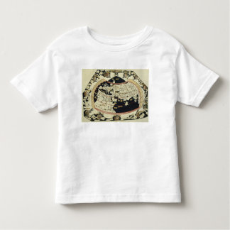 Map of the world toddler t-shirt
