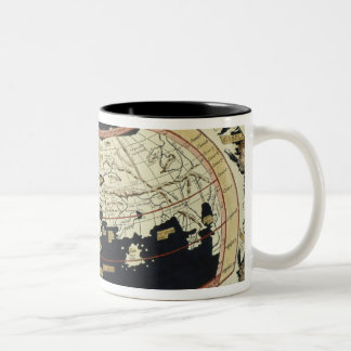 Map of the world Two-Tone coffee mug