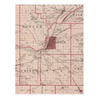 Map of Tippecanoe County Postcard