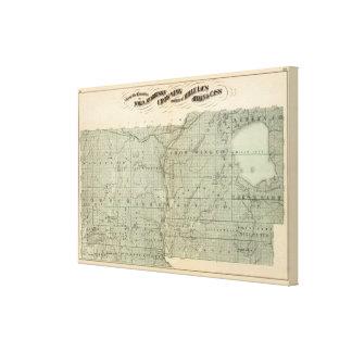 Map of Todd, Morrison, Minnesota Canvas Print