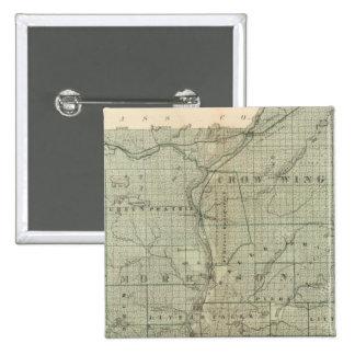 Map of Todd, Morrison, Minnesota Pinback Button