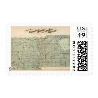 Map of Todd, Morrison, Minnesota Stamp