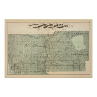 Map of Todd, Morrison, Minnesota Poster