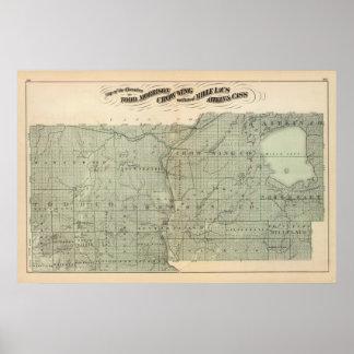 Map of Todd, Morrison, Minnesota Poster