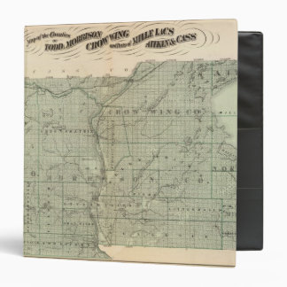 Map of Todd, Morrison, Minnesota Vinyl Binder