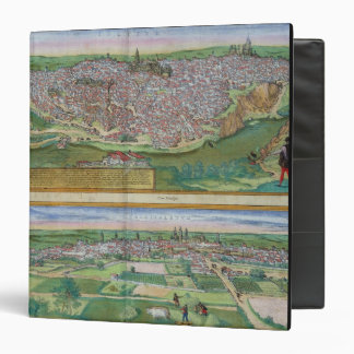 Map of Toledo and Valladolid, from 'Civitates Orbi Binder