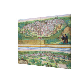 Map of Toledo and Valladolid, from 'Civitates Orbi Canvas Print