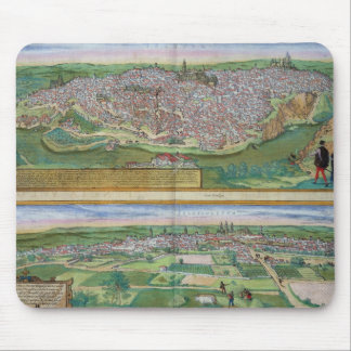 Map of Toledo and Valladolid, from 'Civitates Orbi Mouse Pad