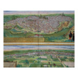 Map of Toledo and Valladolid, from 'Civitates Orbi Poster