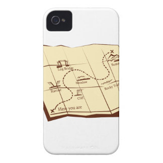 Map of Trail with X Marks The Spot Woodcut Case-Mate iPhone 4 Case