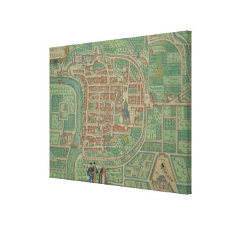 Map of Trento, from 'Civitates Orbis Terrarum' by Canvas Print