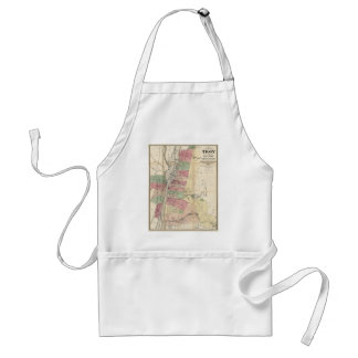 Map of Troy West Troy Green Island New York (1874) Adult Apron
