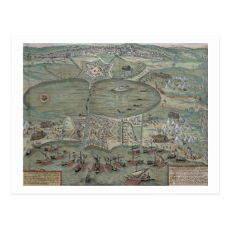 Map of Tunis, from 'Civitates Orbis Terrarum' by G Postcard