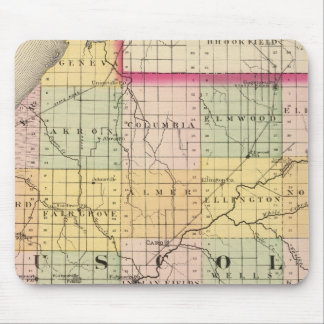 Map of Tuscola County, Michigan Mouse Pad