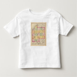 Map of Tuscola County, Michigan Toddler T-shirt