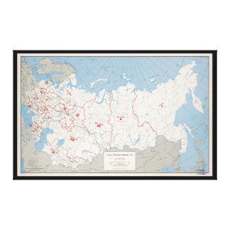 Map of U.S.S.R., Economic Regions (1971) Canvas Print
