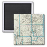 Map of Union County 2 Inch Square Magnet