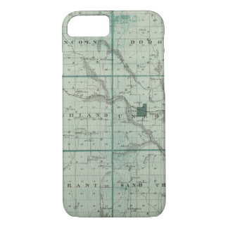 Map of Union County, State of Iowa iPhone 8/7 Case
