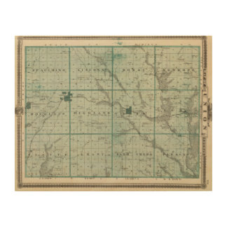 Map of Union County, State of Iowa Wood Wall Art