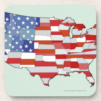 Map of United States of America Drink Coaster