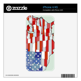 Map of United States of America iPhone 4S Decal
