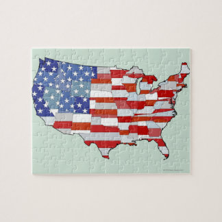 Map of United States of America Jigsaw Puzzle