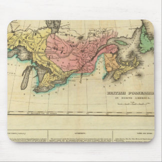 Map Of Upper And Lower Canada Mouse Pad