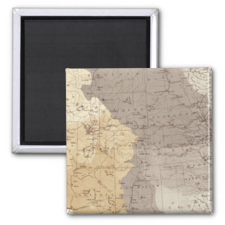 Map of US Drainage Areas 2 Inch Square Magnet