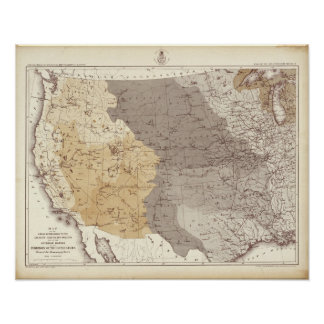 Map of US Drainage Areas Poster