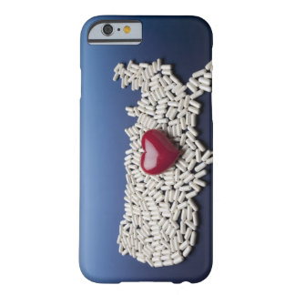Map of USA made of pills with red heart Barely There iPhone 6 Case