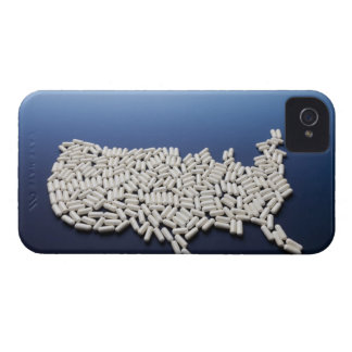 Map of USA made of white pills iPhone 4 Cover