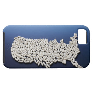 Map of USA made of white pills iPhone SE/5/5s Case