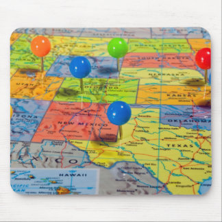 Map of USA Mouse Pad