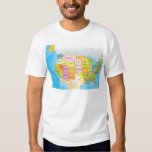 Map of USA States T Shirt