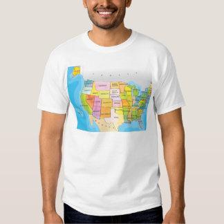 Map of USA States Tee Shirt