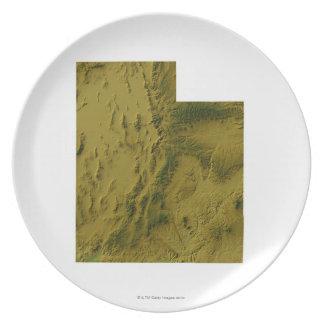 Map of Utah Dinner Plate