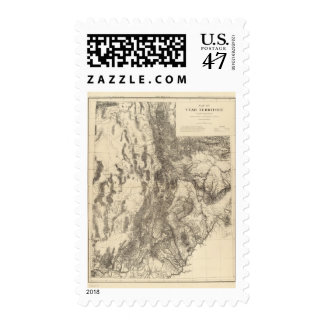 Map of Utah Territory Postage