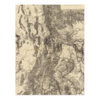 Map of Utah Territory Postcard
