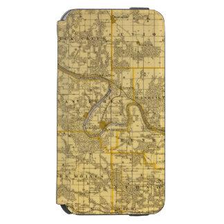 Map of Van Buren County, State of Iowa iPhone 6/6s Wallet Case
